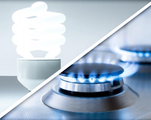 Ampoule et Flamme de gaz naturel